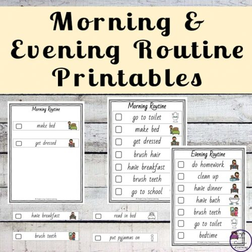 Visual schedules, such as these daily routine printables, can be used at home or at school, and are a powerful tool to help keep your child organised, provide them with independence, help reduce meltdowns and to help children understand the basic concept of time.
