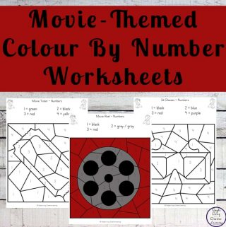 Movie Night Colour By Number Worksheets
