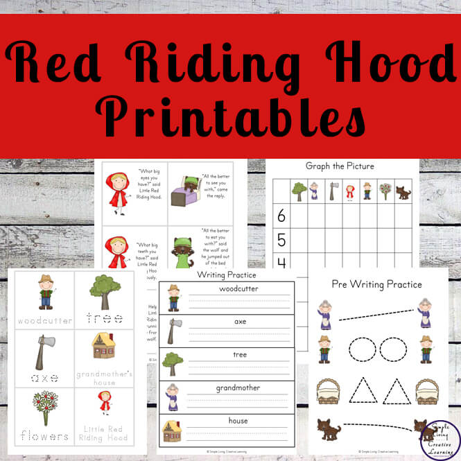 picture about Little Red Riding Hood Story Printable titled Tiny Crimson Driving Hood ~ NSW Font