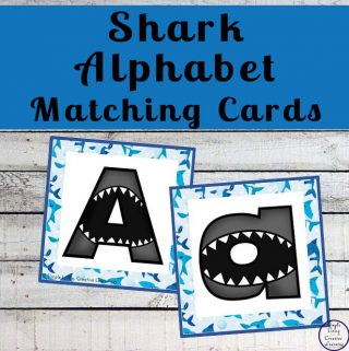 Shark Alphabet Matching Cards