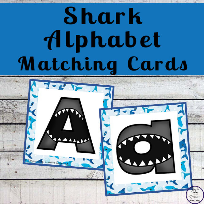 These fun printable shark alphabet matching cards are going to help your children learn their uppercase and lowercase letters in not time.