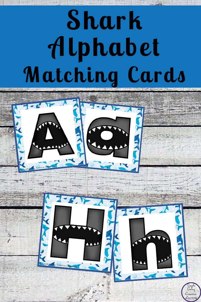 Shark Alphabet Matching Cards - Simple Living  Creative Learning