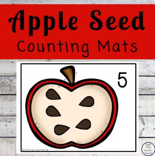 Focusing on the numbers 1 - 20, these Apple Seed Counting Mats are a fun, hands-on math activity that preschoolers and toddlers will love.