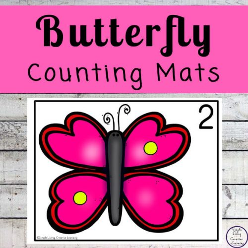 Focusing on the numbers 1 - 20, these Butterfly Counting Mats are a fun, hands-on math activity that preschoolers and toddlers will love.