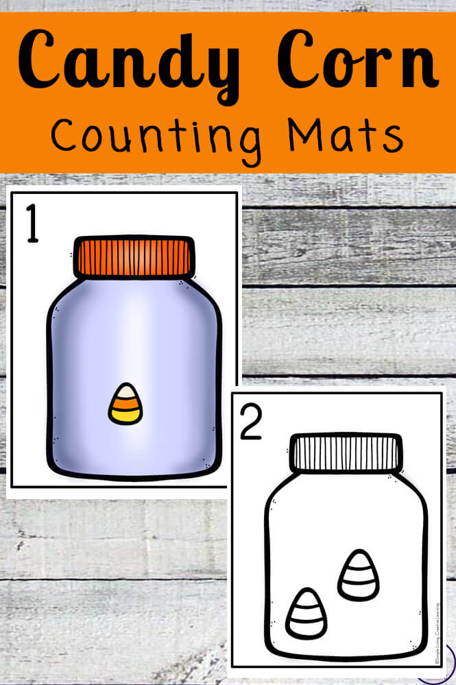 Focusing on the numbers 1 - 20, these Candy Corn Counting Mats are a fun, hands-on math activity that preschoolers and toddlers will love.