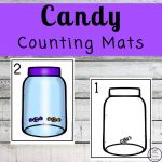 Focusing on the numbers 1 - 20, these Candy Counting Mats are a fun, hands-on math activity that preschoolers and toddlers will love.