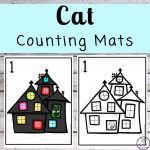 Focusing on the numbers 1 - 20, these Cat Counting Mats are a fun, hands-on math activity that preschoolers and toddlers will love.