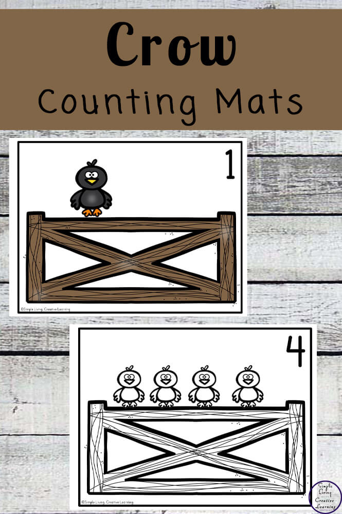 Focusing on the numbers 1 - 20, these Crow Counting Mats are a fun, hands-on math activity that preschoolers and toddlers will love.