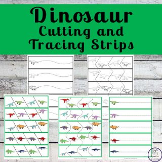 These Dinosaur Tracing and Cutting Strips will have your child enjoying practicing their fine motor skills as well as proper scissor safety.