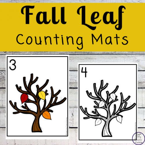 Focusing on the numbers 1 - 20, these Fall Leaf Counting Mats are a fun, hands-on math activity that preschoolers and toddlers will love.