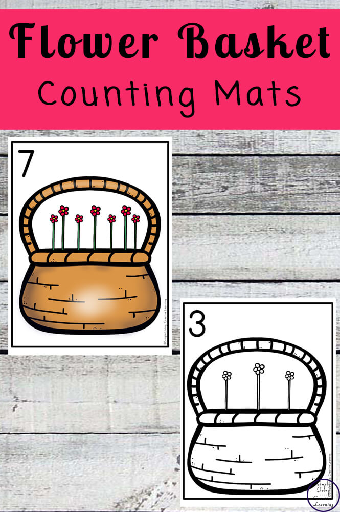 Focusing on the numbers 1 - 20, these Flower Basket Counting Mats are a fun, hands-on math activity that preschoolers and toddlers will love.