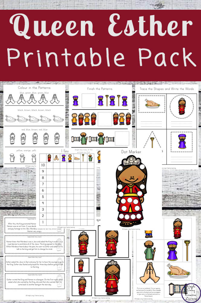 This Queen Esther printable pack is a great way to teach young children, in preschool and kindergarten this amazing story.