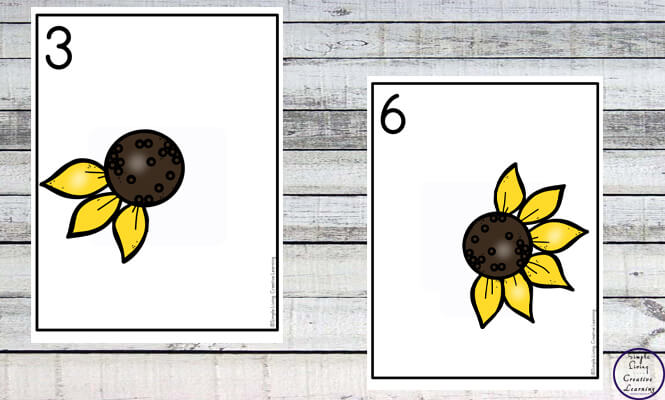 Focusing on the numbers 1 - 20, these Sunflower Petal Counting Mats are a fun, hands-on math activity that preschoolers and toddlers will love.