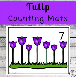 Focusing on the numbers 1 - 20, these Tulip Counting Mats are a fun, hands-on math activity that preschoolers and toddlers will love.