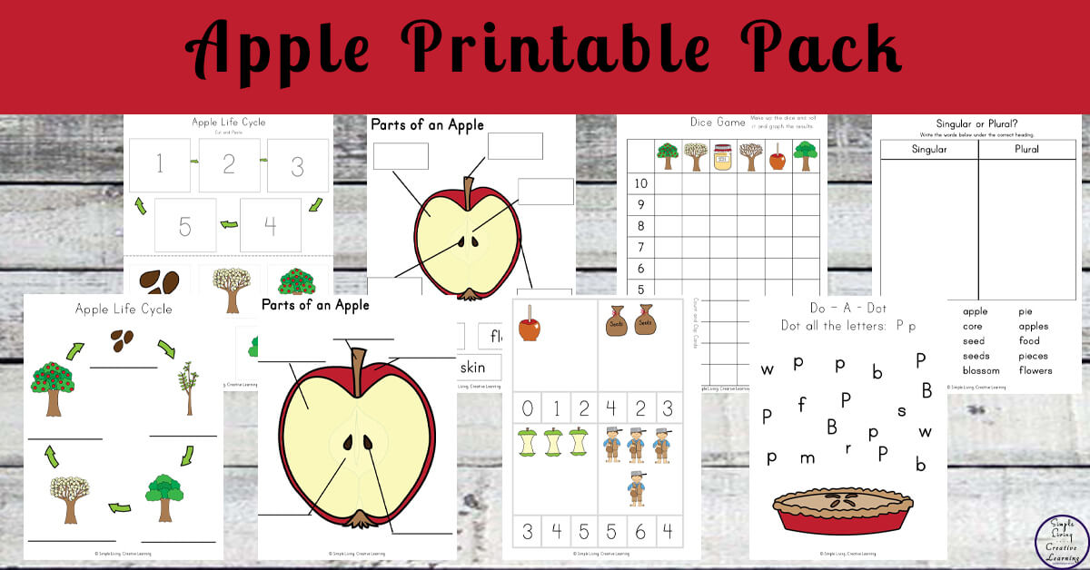 graphic about Apple Life Cycle Printable identify Apple Printable Pack - Straightforward Dwelling. Inventive Discovering