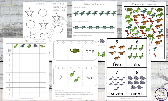 This Dinosaur Printable focuses on skills that preschoolers and kindergarteners need to know while having a fun dinosaur theme.