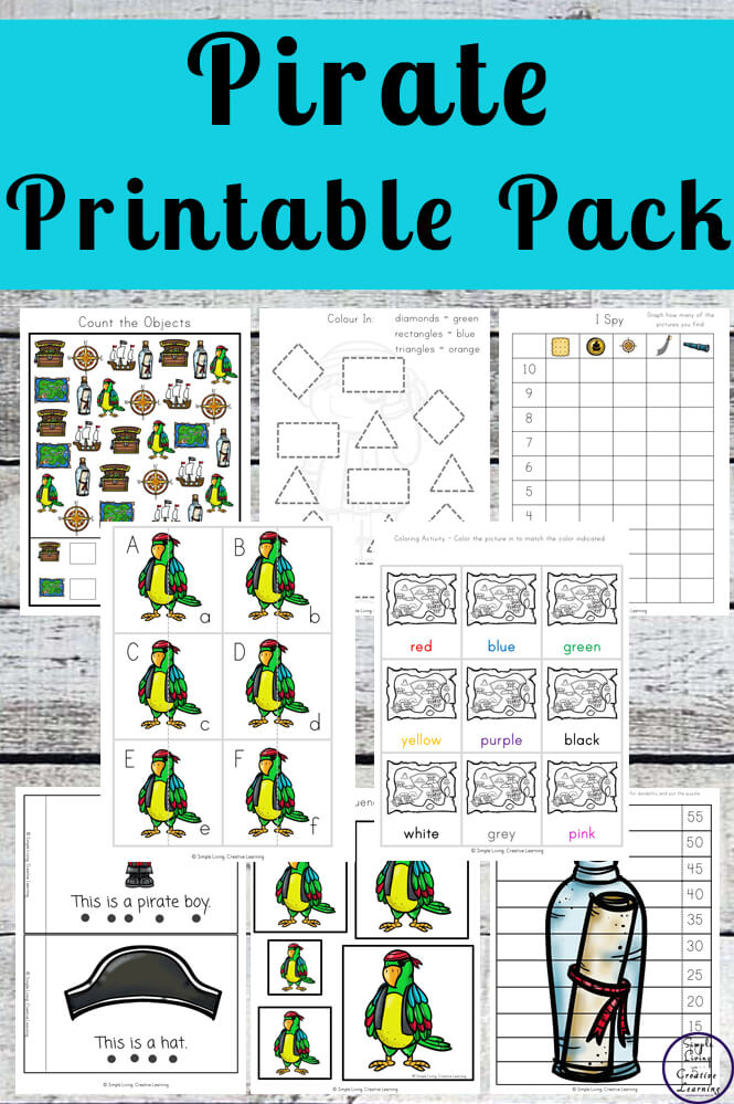 Pirate Printable Pack Simple Living Creative Learning