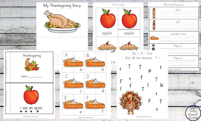 This Thanksgiving Printable Pack focuses on skills that preschoolers and kindergarteners need to know while concentrating on this great holiday.