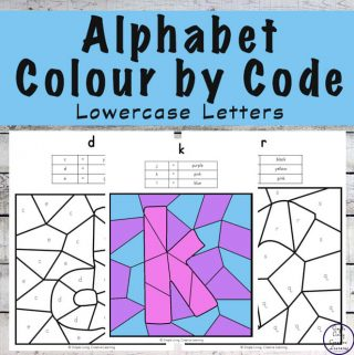 This No-Prep Lowercase Alphabet Letters Colour by Code Colouring Pack is great for children learning the letters of the alphabet.