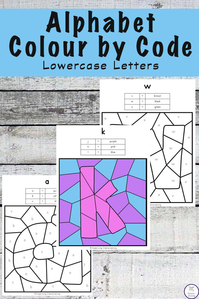 Lowercase Alphabet Letters Colour By Code Simple Living Creative