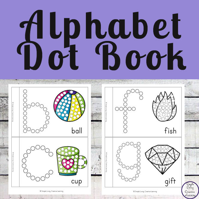 These Alphabet Dot Books are a fun way for young children to learn to identify the letters of the alphabet while working on their fine motor skills.