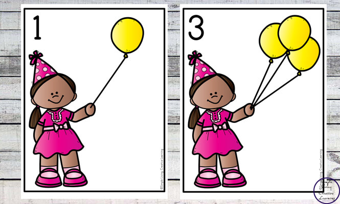 Focusing on the numbers 1 - 20, these Party Balloon Counting Mats are a fun, hands-on math activity that preschoolers and toddlers will love.