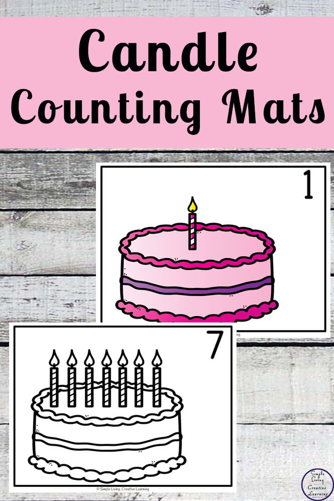 Focusing on the numbers 1 - 20, these Candle Counting Mats are a fun, hands-on math activity that preschoolers and toddlers will love.