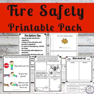 This Fire Safety Printable Pack focuses on skills that preschoolers and kindergarteners need to know while having a fun fire safety theme.