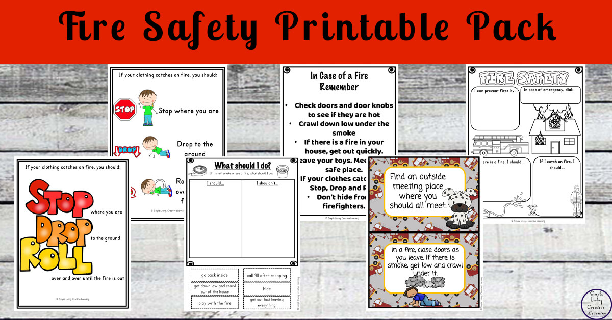 picture regarding Fire Safety Printable named Hearth Stability Printable Pack - Easy Dwelling. Resourceful Mastering