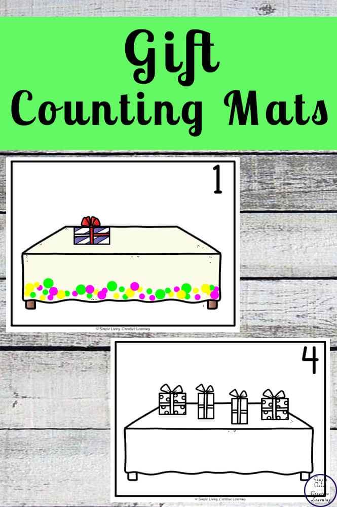 Focusing on the numbers 1 - 20, these Gift Counting Mats are a fun, hands-on math activity that preschoolers and toddlers will love.