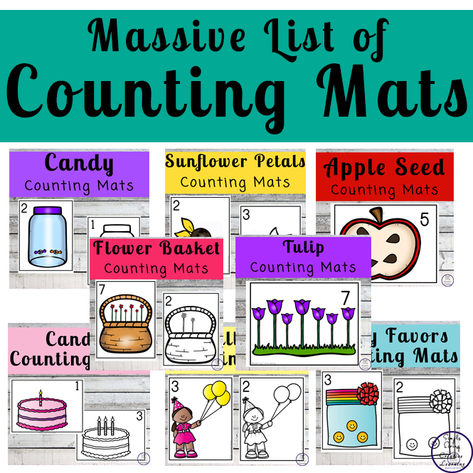 Focusing on the numbers 1 - 20, these Counting Mats are a fun, hands-on math activity that preschoolers and toddlers will love.