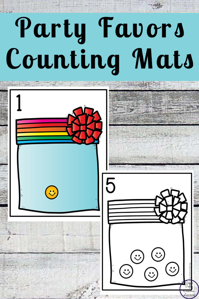 Focusing on the numbers 1 - 20, these Party Favor Counting Mats are a fun, hands-on math activity that preschoolers and toddlers will love.