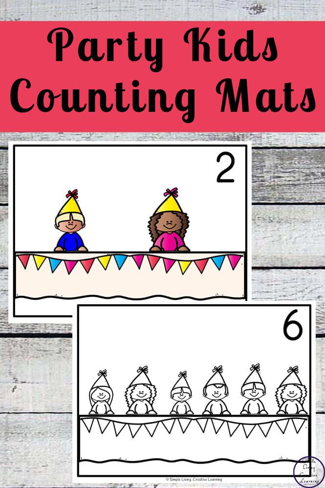 Focusing on the numbers 1 - 20, these Party Kids Counting Mats are a fun, hands-on math activity that preschoolers and toddlers will love.