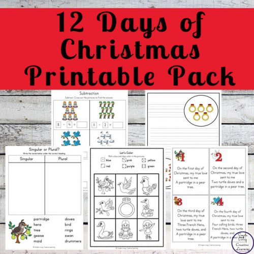 This massive 12 Days of Christmas Printable Pack is a fun activity for childrenin preschool through to grade 2, to complete this festive season.