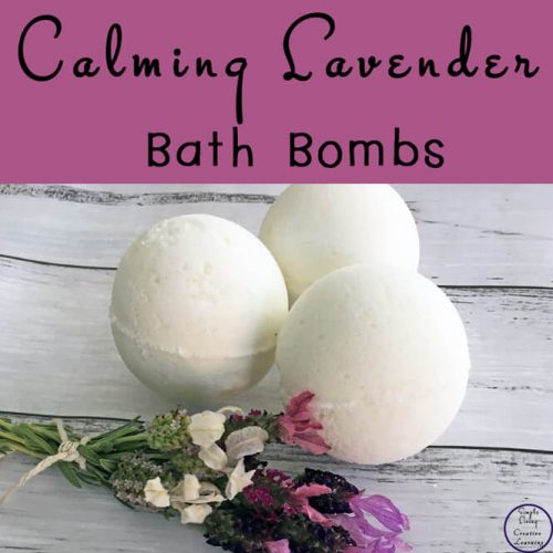 These gorgeous calming Lavender Bath Bombs are great for calming and relaxing with the therapeutic properties of essential oils.
