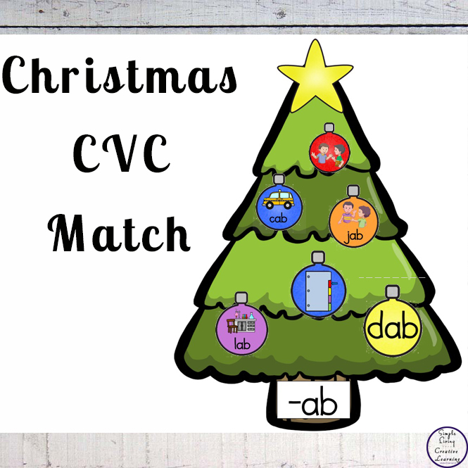 Learn or review CVC words by matching the decorations with the correct vowel sound with this