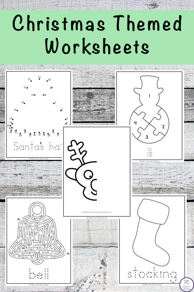 These ChristmasThemed Worksheets are great for kids in preschool and kindergarten. They are easy to prepare / print and will help improve your child's fine motor skills.