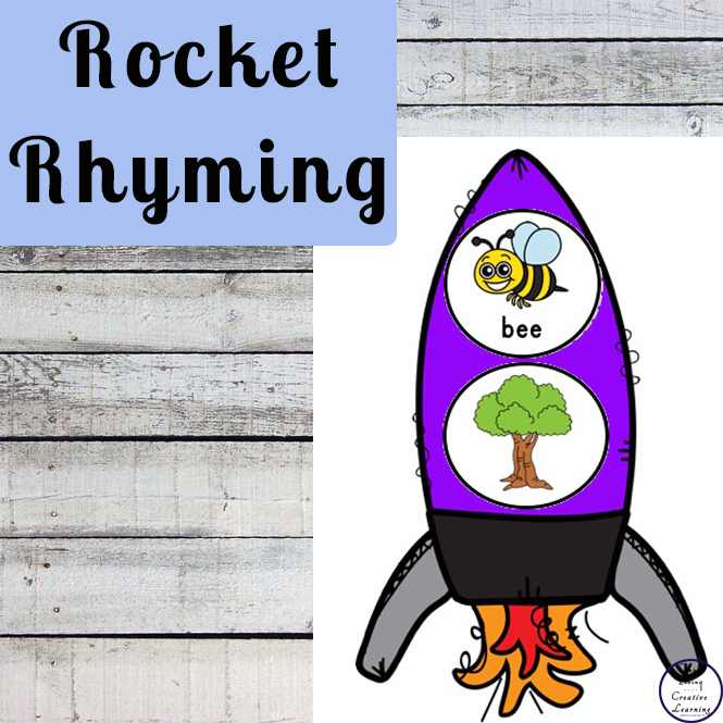 A great way for children to learn and review ten different sets of rhyming words is with this exciting Rocket Rhyming Activity.