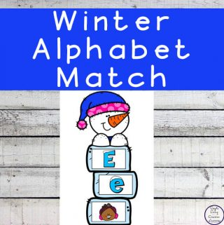 This Winter Alphabet Match activity is great for children learning the uppercase and lowercase letters of the alphabet as well as beginning letter sounds.