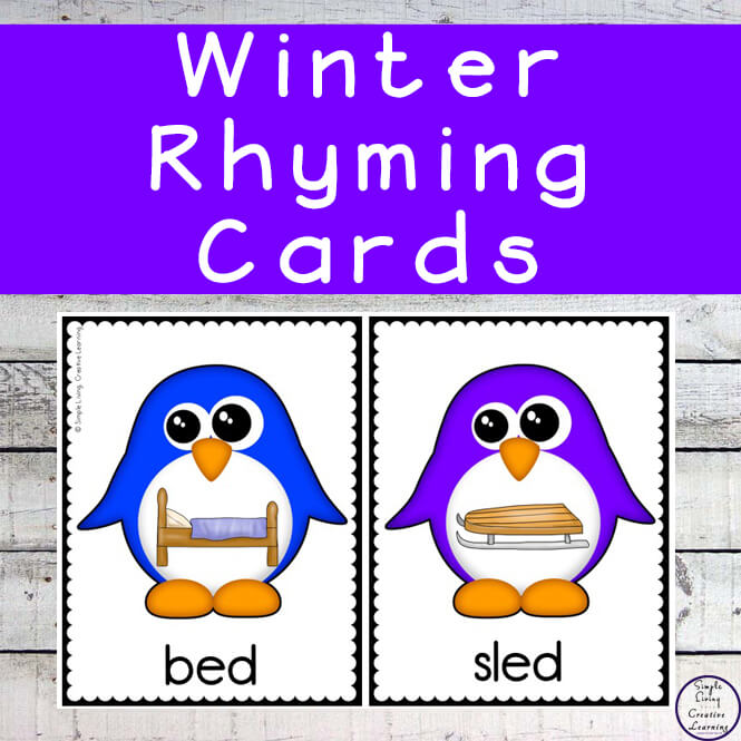 While learning about rhyming words, children will also be strengthening their vocabulary and improving their phonic skills with this Winter Rhyming Pack.