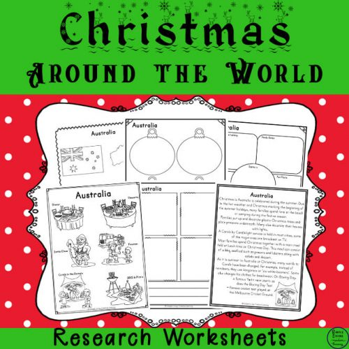 Enjoy learning about different Christmas traditions around the world with this Christmas Around the World Research Printable Pack.