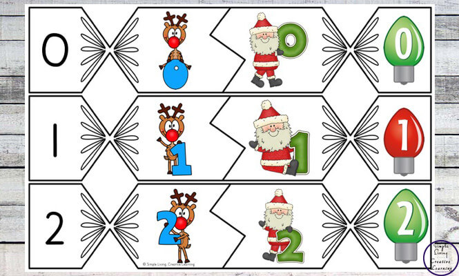 These Bon Bon Number Puzzles are a great way to practice or review counting from zero to twenty this festive season.