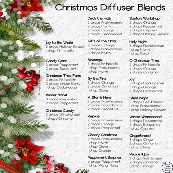 These 20 Christmas Diffuser Blends are a natural way to have a wonderful smelling house this festive season.