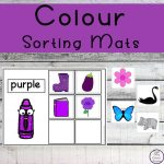 These colour sorting mats are the perfect way for toddlers, kindergarteners and preschoolers topractice recognizing colors and sorting at the same time!
