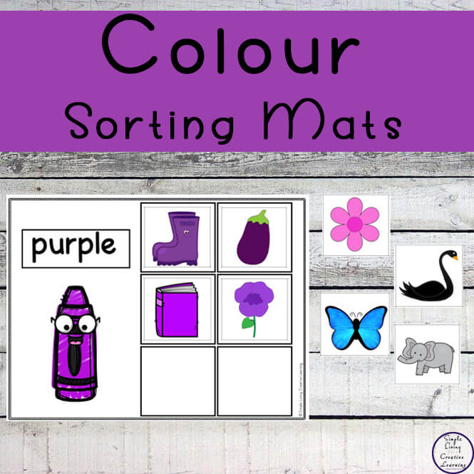 These colour sorting mats are the perfect way for toddlers, kindergarteners and preschoolers to practice recognizing colors and sorting at the same time!