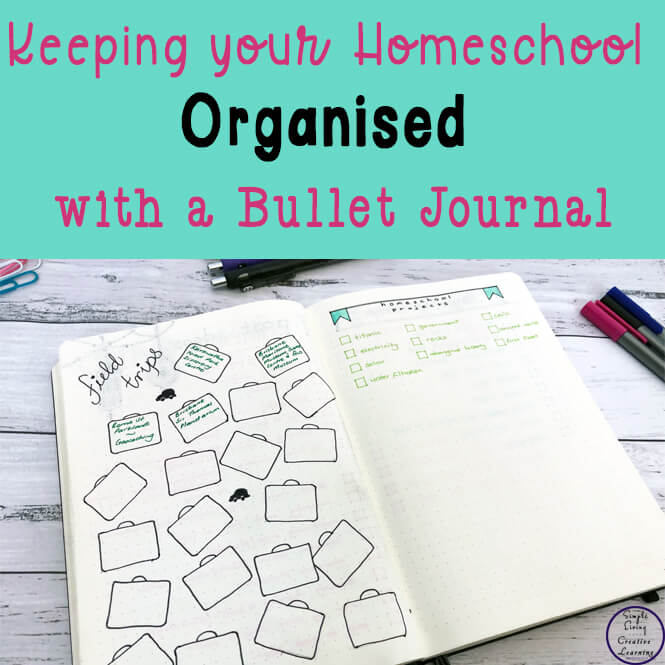 Finding a planner that suited the way we homeschool was hard, so I decided to try and organise all our homeschooling ideas, activities and learning with a bullet journal and have had great success with it. It is a great record of all we have achieved over the course of the year and comes in very handy when it is time for me to write up my yearly homeschool report.