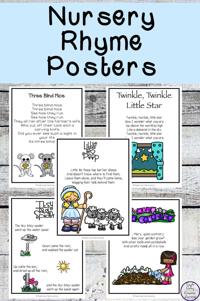 Nursery Rhyme Posters 2nd Simple