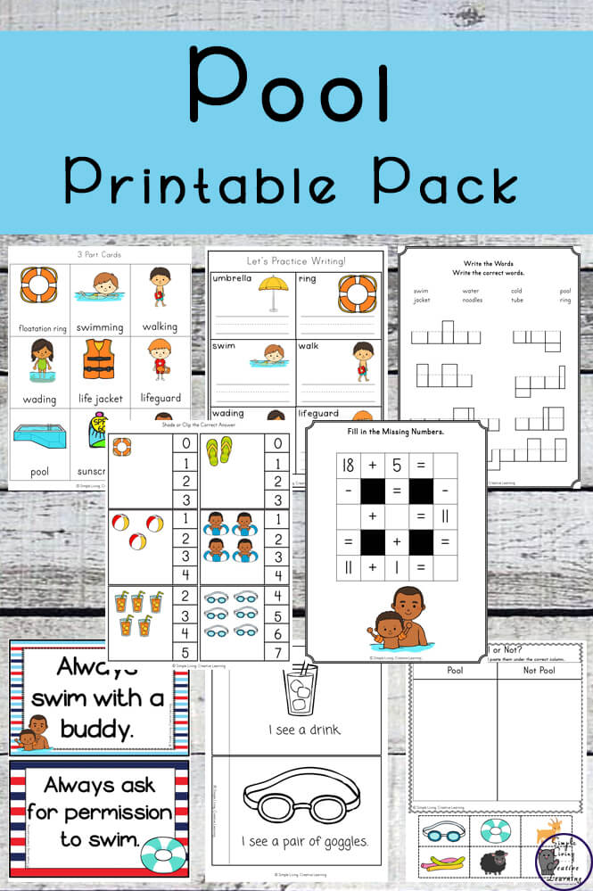 Teaching Water Safety Plus Pool Printable Pack Simple Living Creative Learning