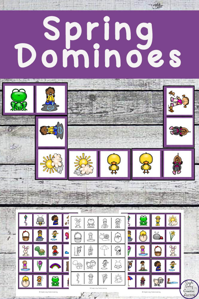 Enjoy a game of Spring Dominoes. It is a great game which all the family, homeschoolers or classrooms can join in and play together.