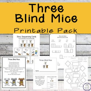 This Three Blind Mice printable pack is aimed at children in kindergarten and preschool and includes over 80 pages of fun and learning.